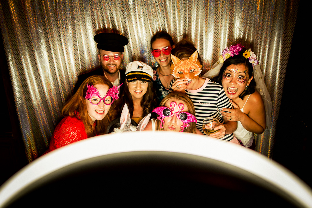 wedding Photo Booth shot at the Clapton Country Club