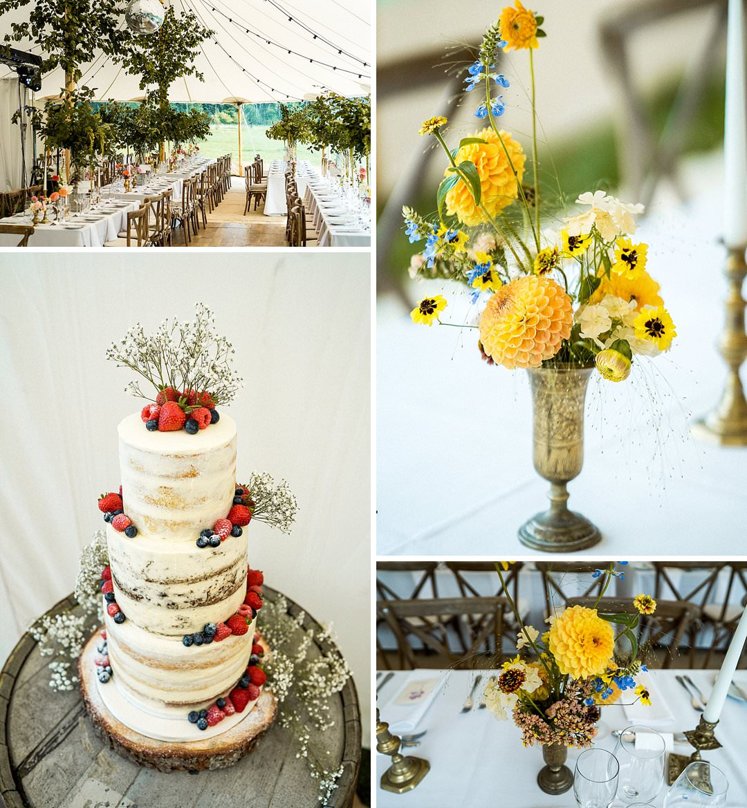 wedding cake wedding marquee and floristry