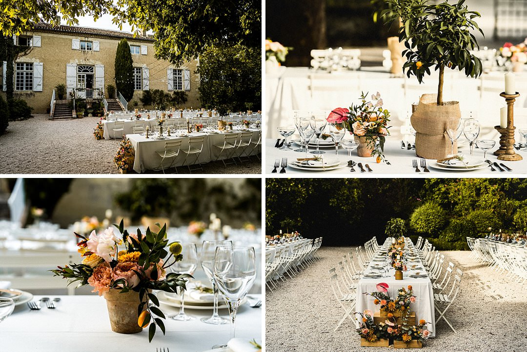 Wedding details at Chateau Lartigolle