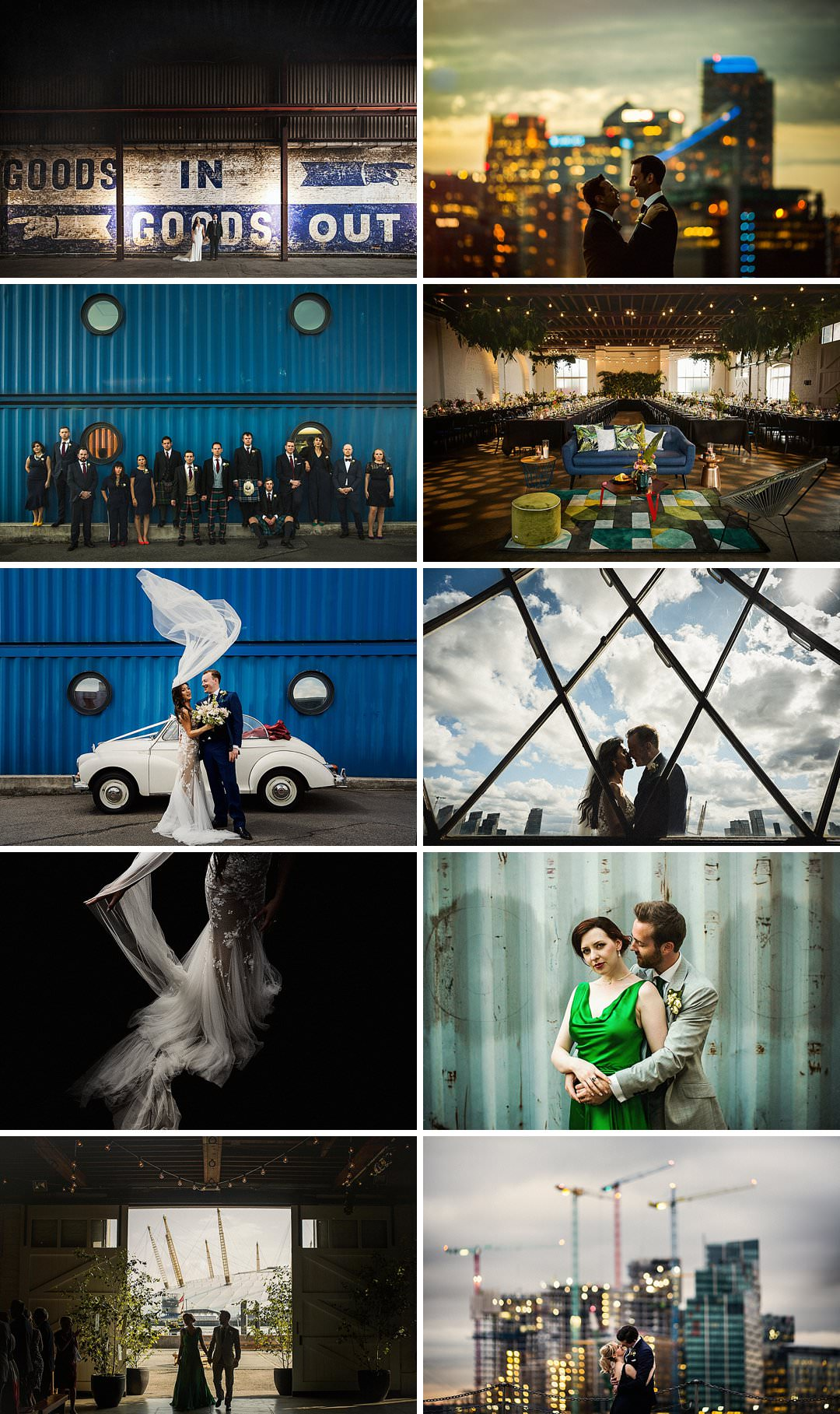 A selection of wedding photos shot at Trinity Buoy Wharf The Chainstore and Electricity Shop By Matt Parry Photography