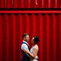 An outdoor riverside wedding in London