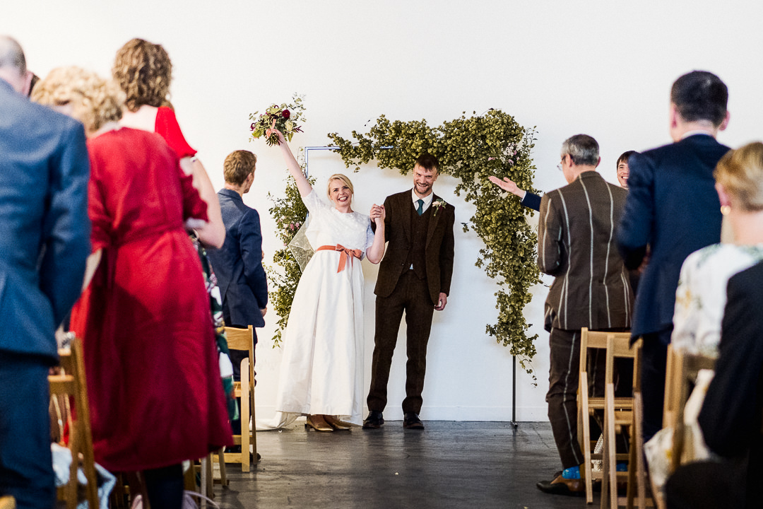 A humanist wedding celebration at Hoxton Arches in East London